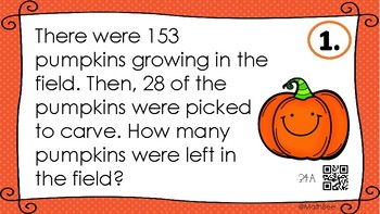 Spooky One and Two Step Word Problems