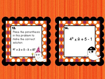 Spooky Order of Operations Task Cards