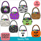 Spooky Pails Halloween Clipart