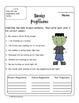 Spooky Progressive Verbs- Common Core Aligned for 4th Grade