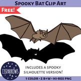 Spooky Little Brown Bat Clip Art
