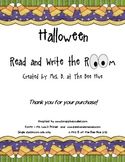 Spooky Read and Write the Room for Halloween