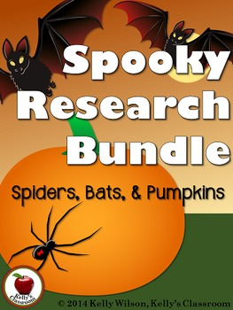 Spiders Bats Pumpkins Research BUNDLE