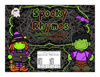 Spooky Rhymes { Short Vowel Printables}