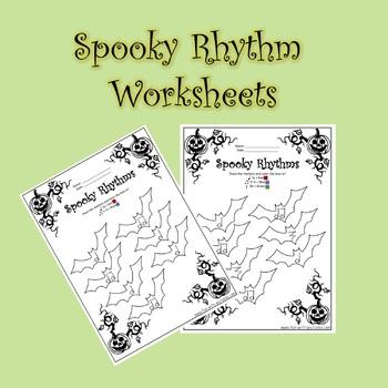 Spooky Rhythm Worksheets