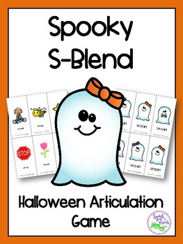 Spooky S-Blend Halloween Articulation Game