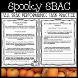 Fall Themed SBAC Performance Task Practice (Spooky SBAC)