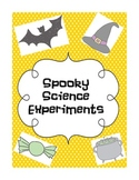 Spooky Science Experiments & Observation sheets