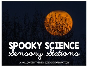 Halloween Themed Spooky Science Sensory Stations