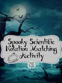 Spooky Scientific Notation Matching Activity