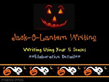 Spooky Sensory Writing:  Jack-O-Lantern Elaborative Detail Writing
