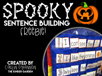 Spooky Sentence Building {Freebie} by Caitlin O'Bannon