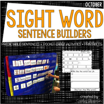 Spooky Sentence Building {Sight Word Sentence Activities for October} by Caitlin O'Bannon