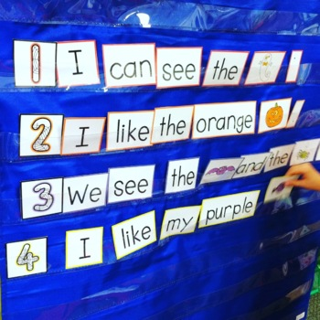 Sentence Building {Sight Word Activities for October}