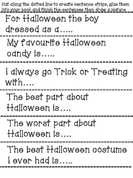 Spooky Sentence Starters and Halloween Foldable Books