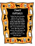 Spooky Sentences with Creative Adjectives