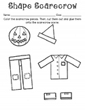 Spooky Shape Scarecrow (acitivity and extension tangram included)