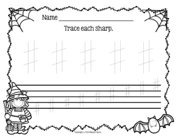 Spooky Sharp Week: Sharp Review Sheets for Elementary Students {Halloween/Fall}