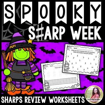 Spooky Sharp Week: Sharp Review Sheets for Elementary Stud