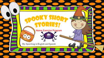 Spooky Short Stories Home Exercise Program! {FREEBIE} English