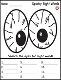 Spooky Sight Word Search