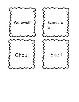 Spooky Singular and Plural Nouns Activity