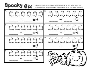 Spooky Six--Combinations of Six Center for K-1