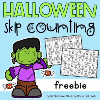 Halloween Skip Counting (freebie!)