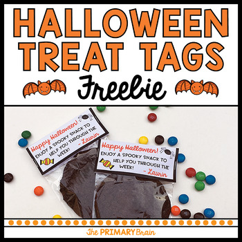 Spooky Snack Treat Bag Tags - Great for Teacher and Parent Gifts