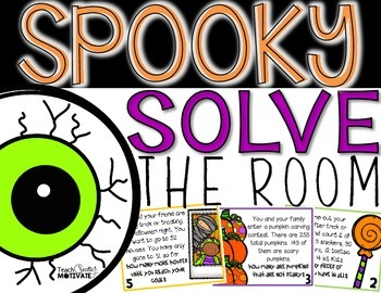 Spooky Solve the Room {Halloween Math Hunt}
