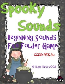 Spooky Sounds Halloween Beginning Sounds Fall File Folder Game Phonics