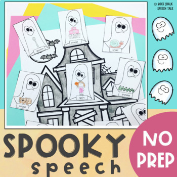 Halloween No Prep Speech Craftivity