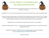 Spooky Speech- A Halloween Articulation Game