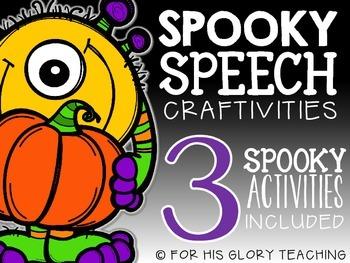 Spooky Speech {Craftivities}