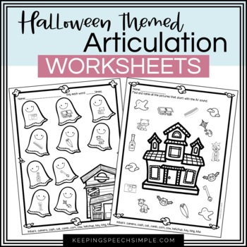 Spooky Speech No Prep Articulation Worksheets