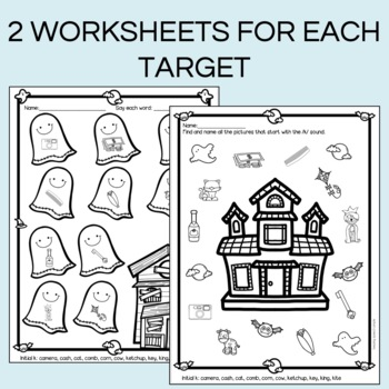 Speech- Halloween themed No Prep worksheets for Speech Therapy