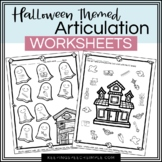 Spooky Speech- Halloween themed No Prep worksheets for Spe