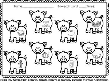 No Prep Articulation Worksheets for Early Sounds - Farm Themed