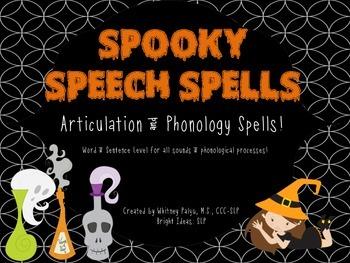 Spooky Speech Spells: Articulation & Phonology