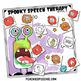Spooky Speech Therapy Craft {No Prep!}