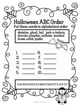 HALLOWEEN Spooky Spelling {freebie}