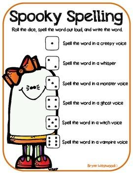 Spooky Spelling-Roll, Read, & Write