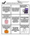 Spooky Spelling Tic Tac Toe