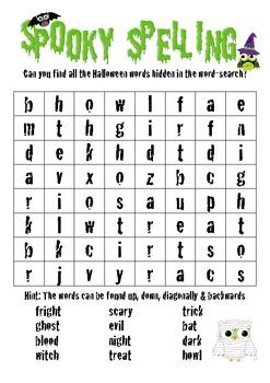 Spooky Spelling - Word-Search
