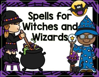 Spooky Spells Halloween- Talk, Draw, Creative Writing Activity