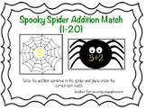 Spooky Spider Addition Match