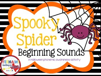 Spooky Spider Beginning Sounds