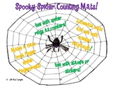 Spooky Spider Counting Mats 1-20