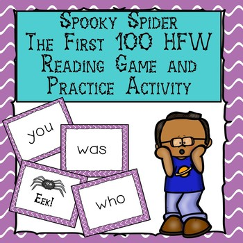 Spooky Spider First 100 High Frequency Words Reading Game