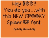 Spooky Spider Font
